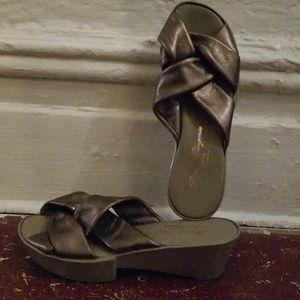 Robert Clergerie Myrtil Slide Wedge Sandals
